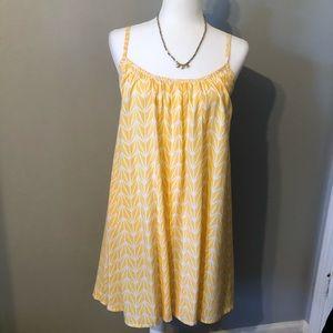 Ava Sky Yellow/White Patterned Summer Dress